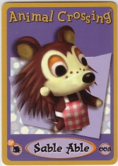 Sable Able 008 Animal Crossing E-Reader Card Nintendo GBA in Видеоигры и пр